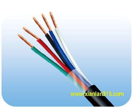 RVV型300/500V铜芯聚氯乙烯电缆多芯