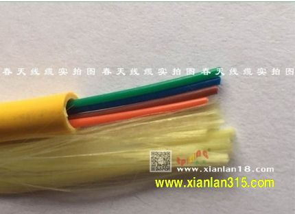 GJFJV-4B1室内4芯单模光缆(黄色)系列
