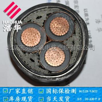 铠装地埋高压金尊国际ZRYJV22 -宏亮电缆厂家直销-北京