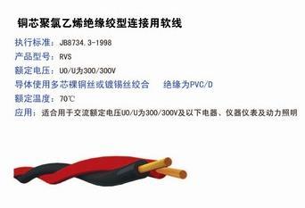 轻型聚氯乙烯护套软电缆-天科线缆