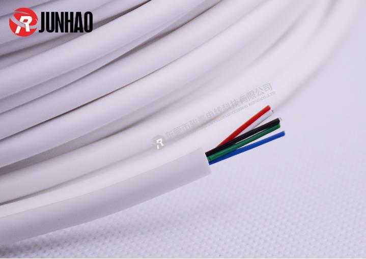 白色五芯硅胶护套线产品图片展示