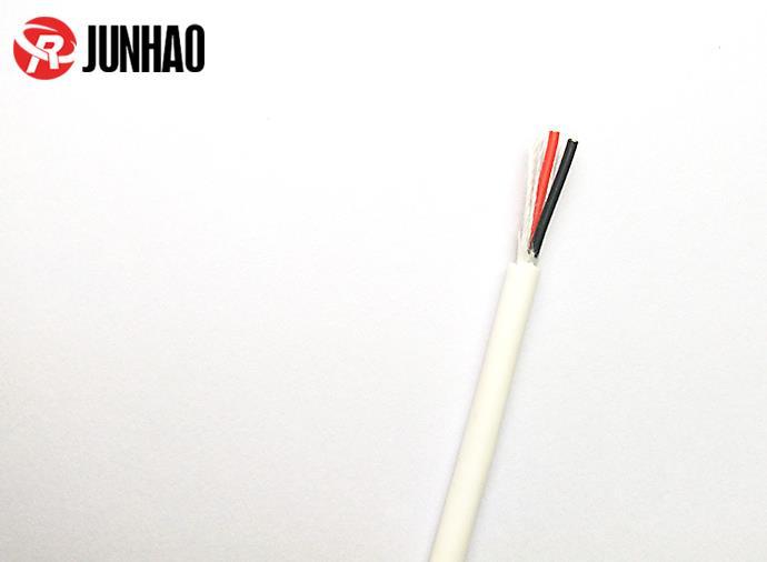 3.6mm白色红黑2芯高温硅胶易胜博ysb88手机版线产品图片展示