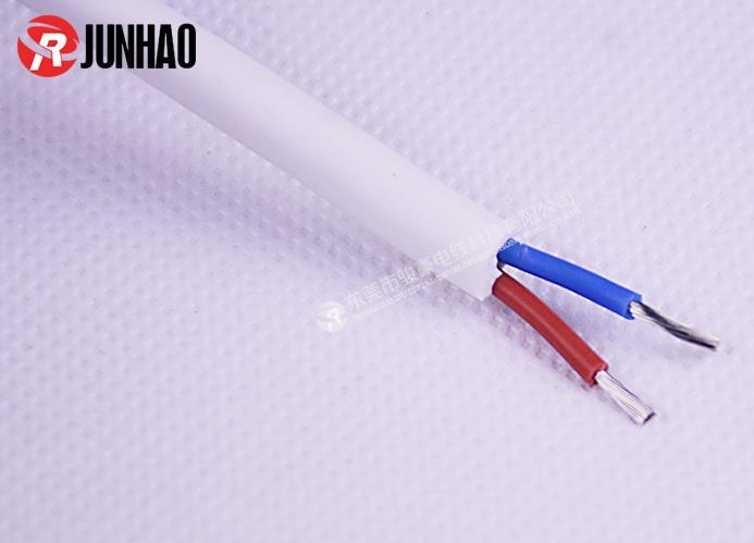 耐高温白色二插电源线产品图片展示