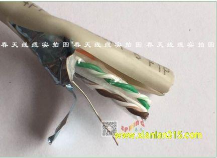 单层屏蔽网线-春天线缆产品图片展示